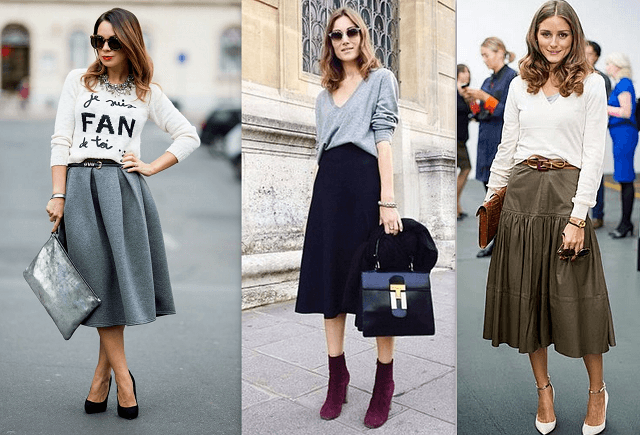 Sezonun trendi: Pileli etek ve triko kazaklar