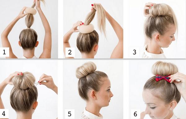 topuz saç modeli pratik saç stili