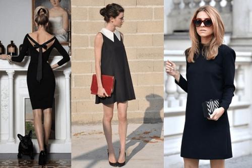 siyah mini elbise modelleri