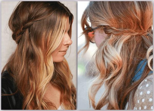 yarım toplanmış saçlar