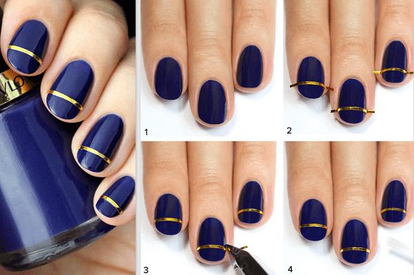 tırnak süsleme şeritleri nasıl kullanılır