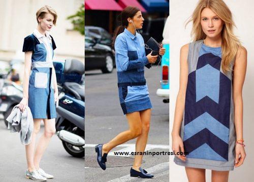 yamalı kot elbise modelleri_mini
