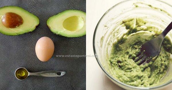 yumurta ve avakadolu saç maskesi_mini