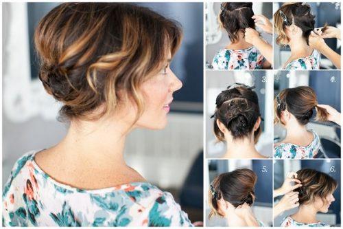 1 kısa saçlar için kolay saç topuzu_mini