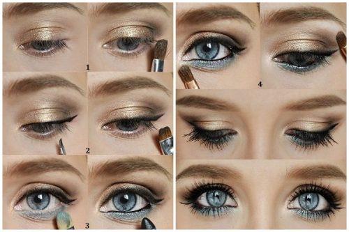 mavi gözler için göz makyajı