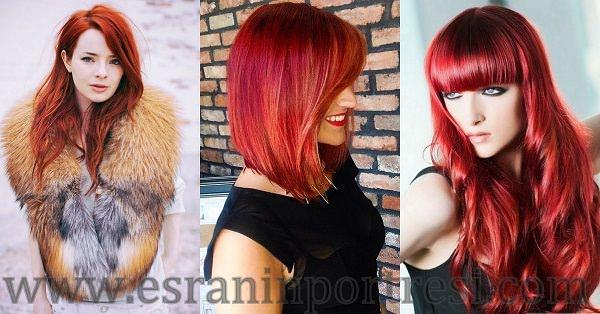 Kızıl Saç Renkleri Esranın Portresi