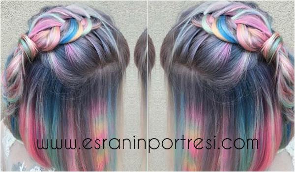 2016 Pastel Saç Renkleri Esranın Portresi