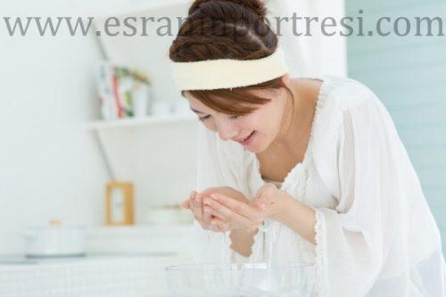 gözeneklerin sıkılaştırılması için cilt temizliği