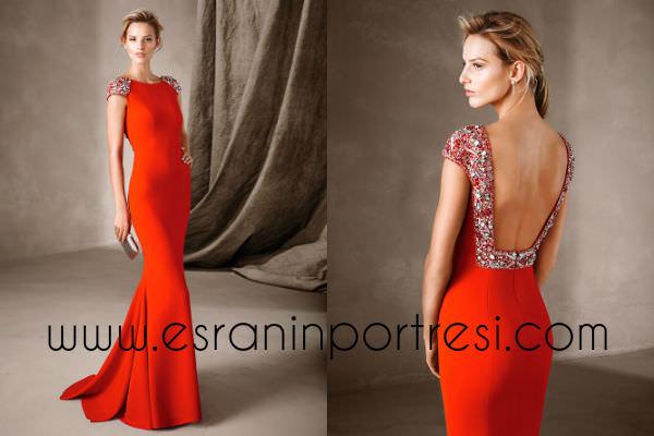 pronovias 2017 kırmızı elbise modelleri_mini