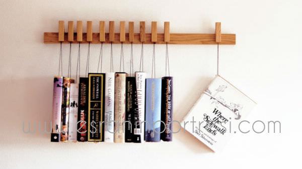 4 ev dekorasyonu tasarim askili kitaplik dekoratif kitaplik kitap rafi_mini