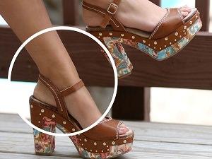 platform topuklu sandalet ayakkabi clogs takunya on_mini
