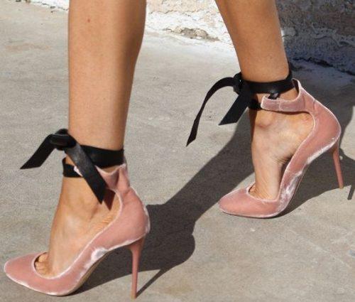 7 kadife kumas kadife topuklu ayakkabi kadife trendi_mini
