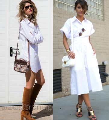 2 beyaz gomlek elbise ile stil onerileri_mini