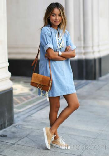 5 kot elbiseler ile stil onerileri_mini