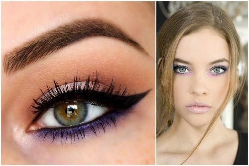 yeşil gözler için koyu mor eyeliner_mini